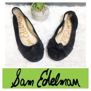 5/$25 Sam Edelman Black Suede Bow Flats 🌸